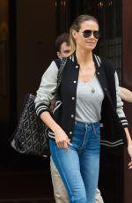HEIDI KLUM Leaves Her Hotel in New York 06/19/2017