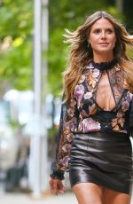 HEIDI KLUM Out and About in London 06/29/2017