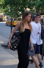 HEIDI KLUM Out Make-up Free in New York 06/13/2017