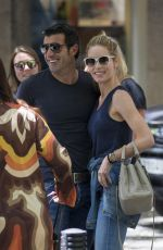 HELEN SVEDIN and Luis Figo Out for Lunch in Madrid 06/26/2017