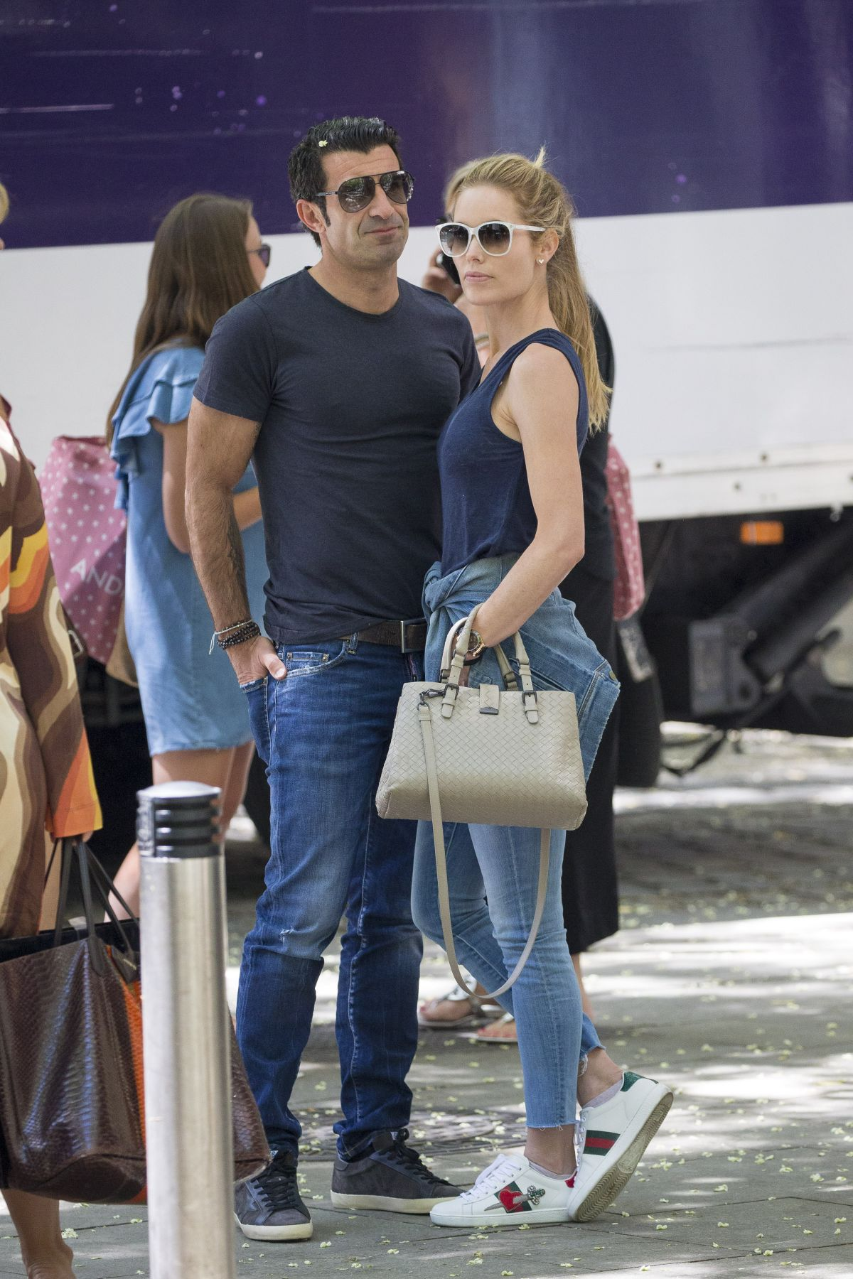 HELEN SVEDIN and Luis Figo Out for Lunch in Madrid 06 26 2017
