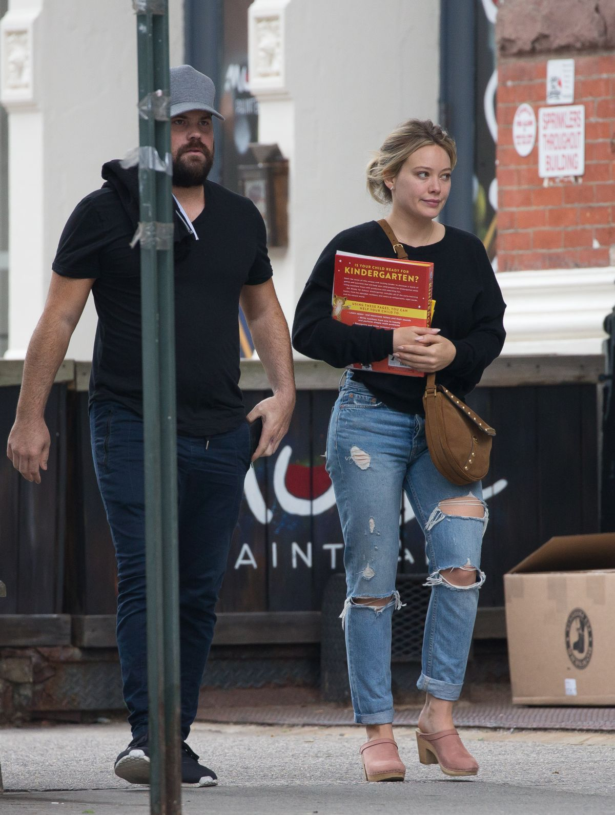 HILARY DUFF and Mike Comrie Out in New York 06/17/2017