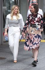 HILARY DUFF and MIRIAM SHOR on the Set of Younger in New York 06/19/2017