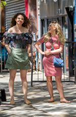 HILARY DUFF and SUTTON FOSTER on the Set of Younger in New York 06/02/2017