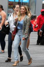 HILARY DUFF Arrives at Good Morning America in New York 06/19/2017