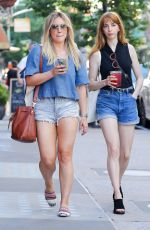 HILARY DUFF in Denim Shorts Out in New York 06/24/2017
