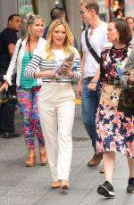 HILARY DUFF Leaves Good Morning America in New York 06/19/2017