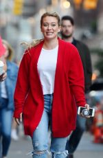 HILARY DUFF on the set of Younger in New York 06/08/2017