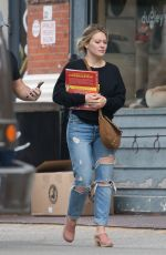 HILARY DUFF Out and About in New York 06/17/2017