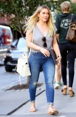HILARY DUFF Out and About in New York 06/27/2017
