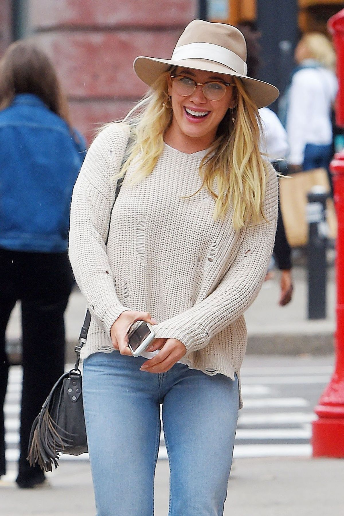 HILARY DUFF Out for Lunch at Sadelle