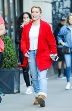 HILARY DUFF Out in New York 06/09/2017