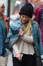 HILARY DUFF Out in New York 06/18/2017