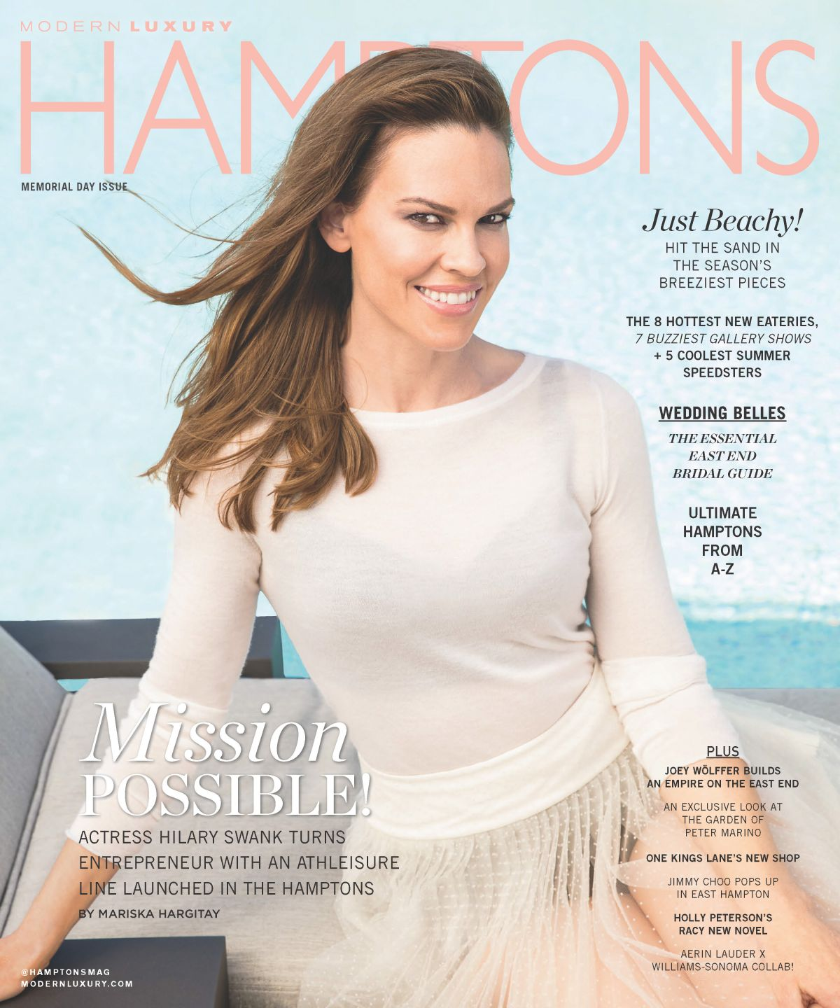 HILARY SWANK in Hampton