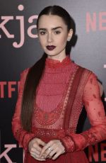 LILY COLLINS at Okja Premiere in New York 06/08/2017