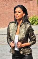 NICOLE SCHERZINGER Arrives at X Factor Auditions in Liverpool 06/20/2017