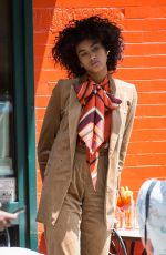 IMAAN HAMMAM on the Set of a Photoshoot for Vogue Magazin in New York 06/02/2017