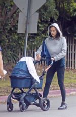 IRINA SHAYK Out with Her Baby in Los Angeles 06/01/2017