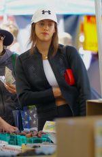 IRINA SHAYK Shopping at Farmer