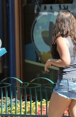 ISKRA LAWRENCE in Denim Shorts Out at Disneyland in Anaheim 06/23/2017