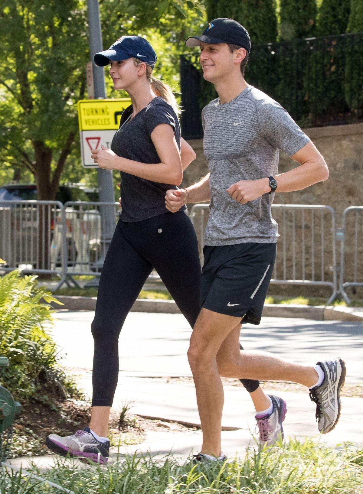 IVANKA TRUMP and Jared Kushner Out Jogging in Washington 06/25/2017