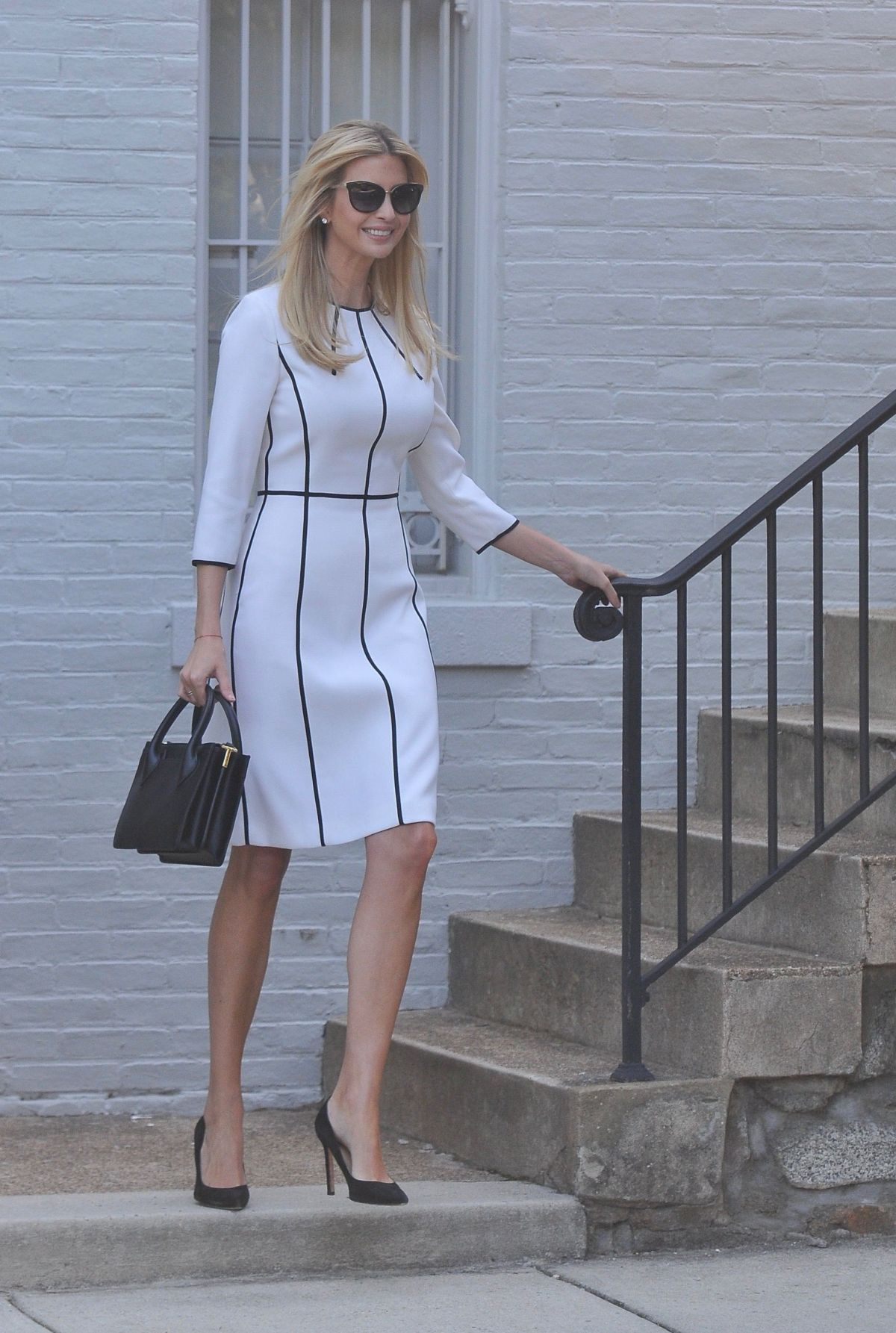 IVANKA TRUMP Out on Fathers Birthday in Washington 06/14 ...