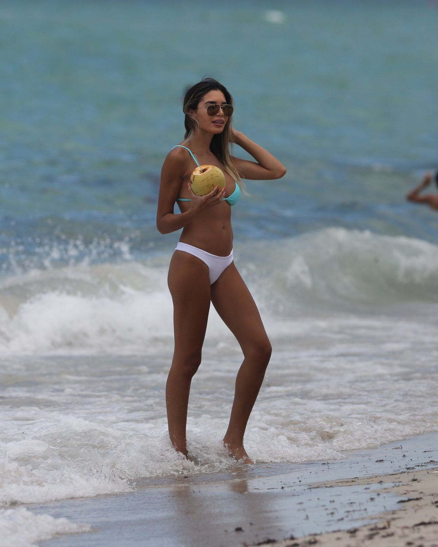JASMINE TOSH in Bikini on the Beach in Miami 06/18/2017