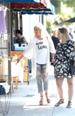 JENNIE GARTH and TORI SPELLING Out in Los Angeles 06/23/2017
