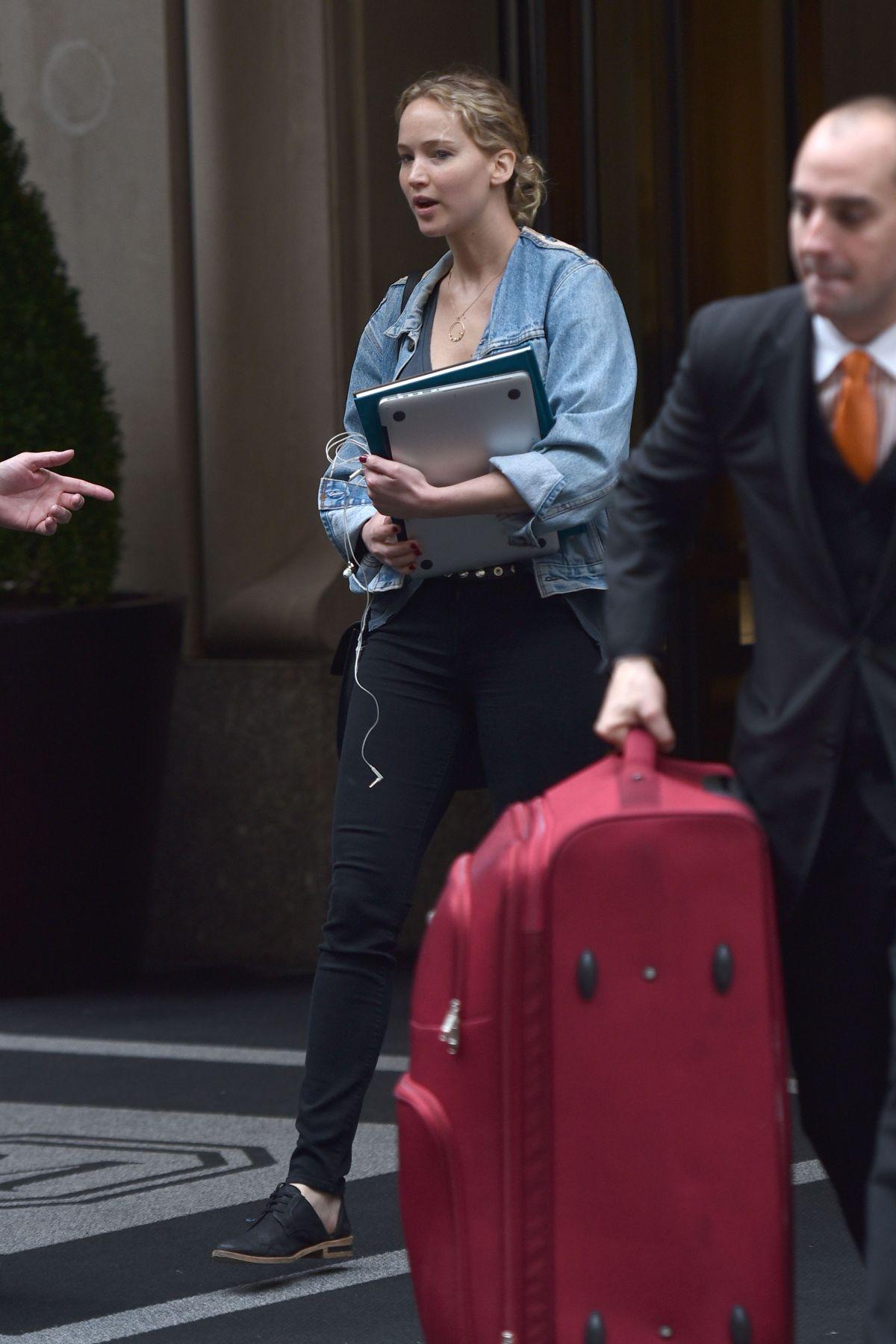 JENNIFER LAWRENCE Leaves Her Hotel in New York 06/05/2017