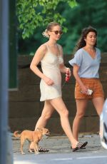 JENNIFER LAWRENCE Out with Her Dog in Central Park in New York 06/15/2017