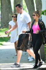 JENNIFER LOPEZ and Alex Rodriguez Leaves a Gym in New York 06/25/2017