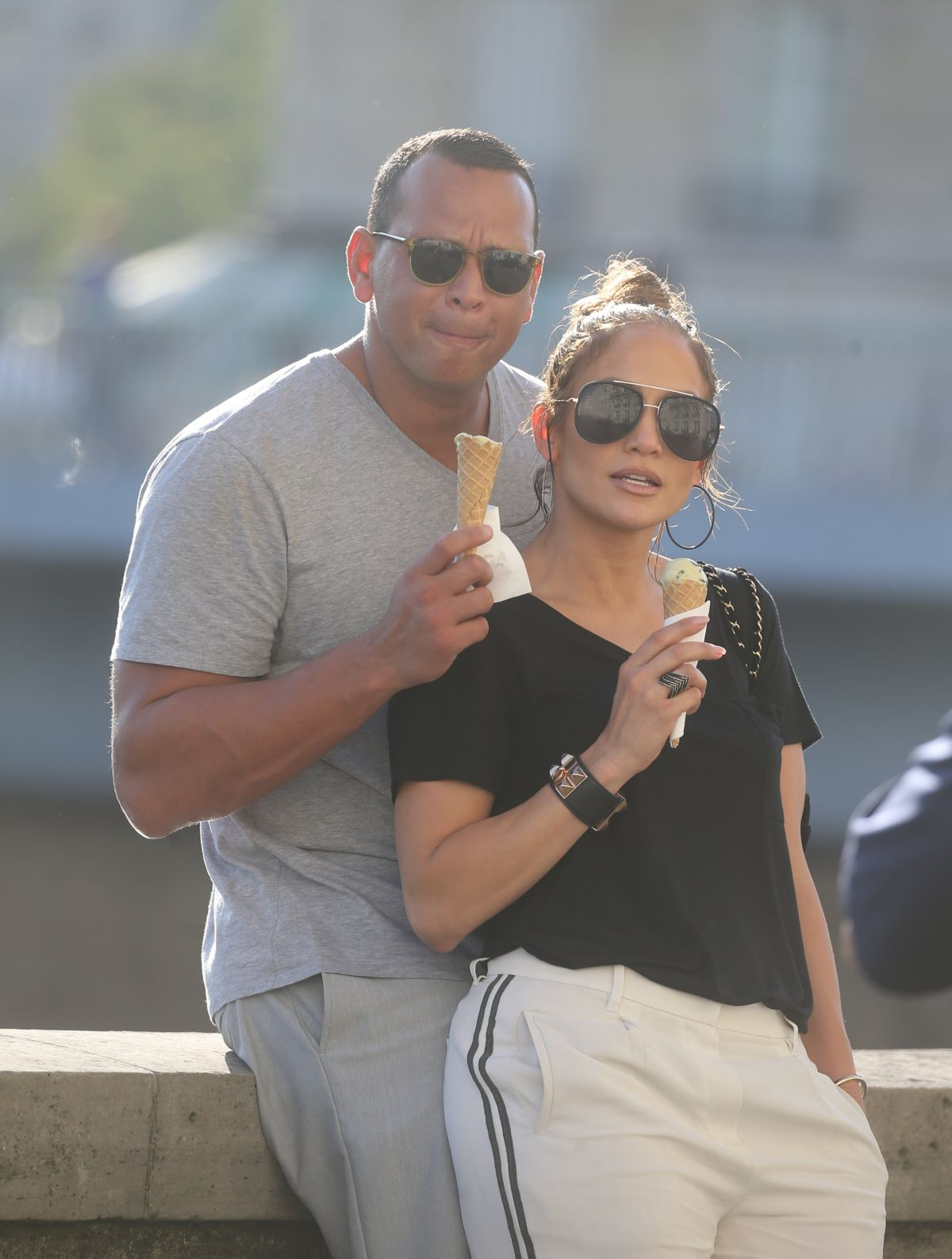 JENNIFER LOPEZ and Alex Rodriguez Out on Ile Saint-louis in Paris 06/18/2017