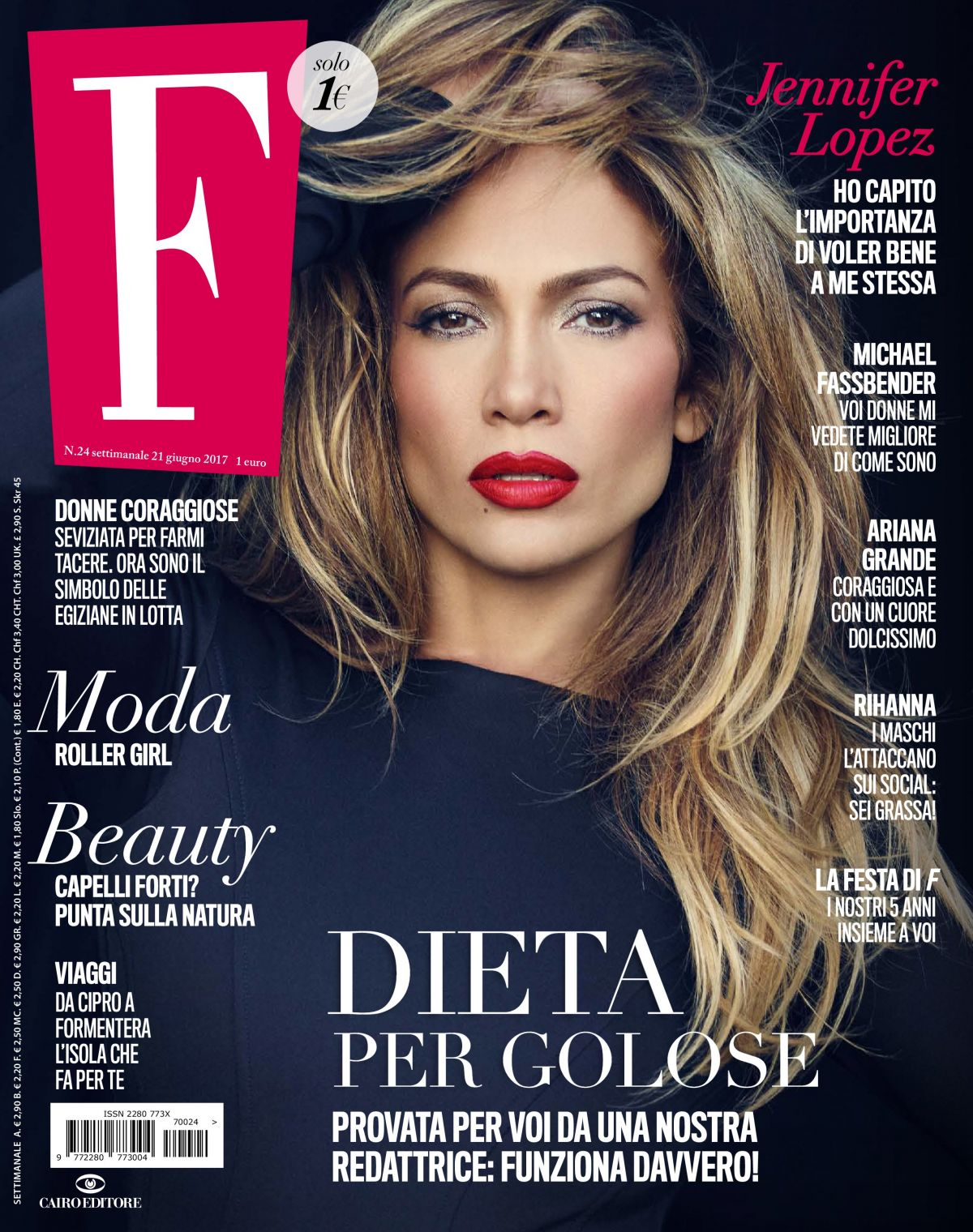 JENNIFER LOPEZ in F Magazine, Italy June 2017