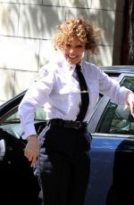 JENNIFER LOPEZ on the Set of Shades of Blue at Amsterdam Avenue in New York 06/22/2017