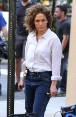 JENNIFER LOPEZ on the Set of Shades of Blue in New York 06/19/2017