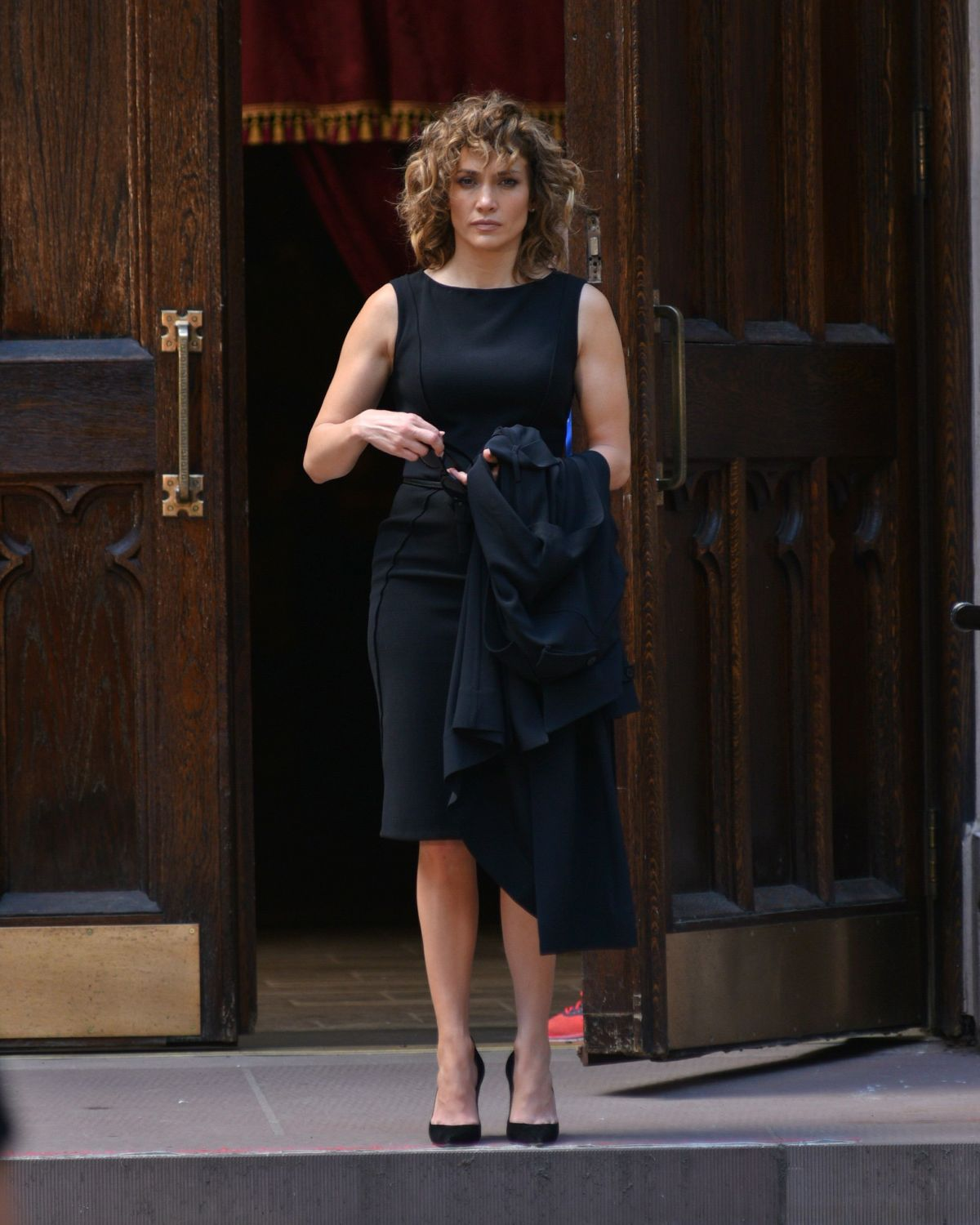 JENNIFER LOPEZ on the Set of Shades of Blue in New York 06/20/2017