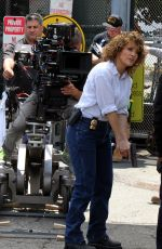 JENNIFER LOPEZ on the Set of Shades of Blue in New York 06/27/2017