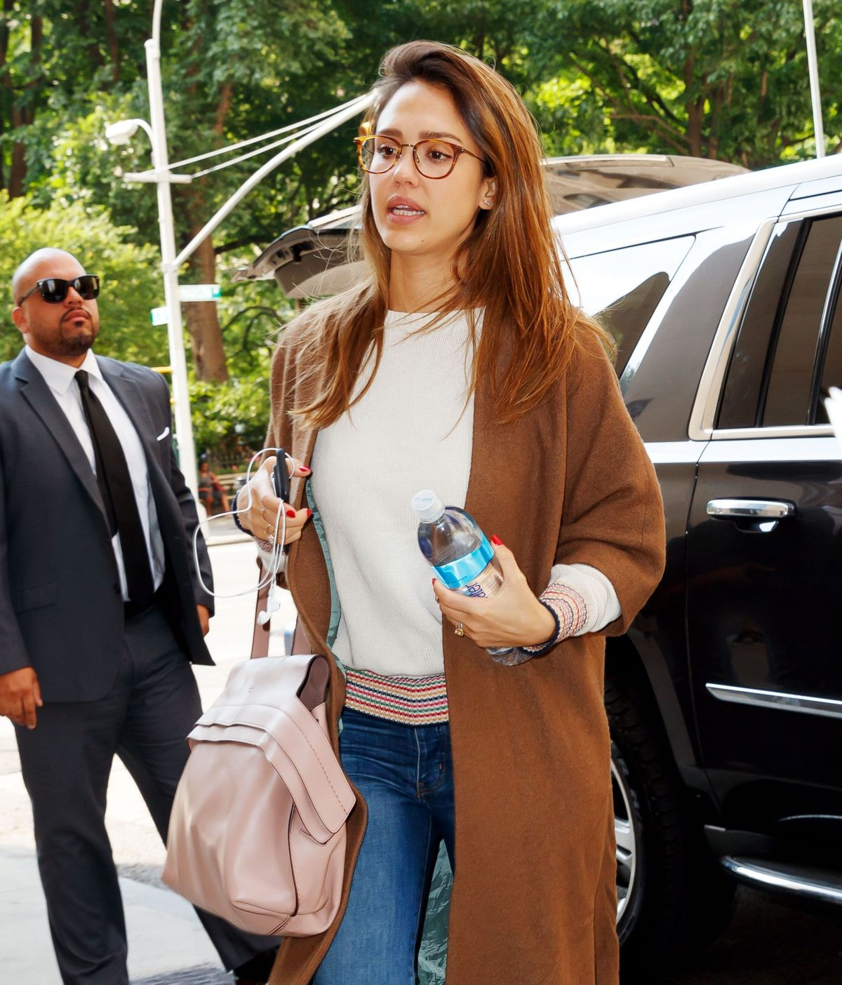 JESSICA ALBA Arrives at Her Hotel in New York 06/15/2017