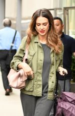JESSICA ALBA Leaves Her Hotel in New York 06/14/2017