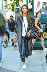 JESSICA ALBA Out and About in New York 06/14/2017