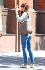 JESSICA BIEL in Ripped Jeans Out in New York 06/15/2017