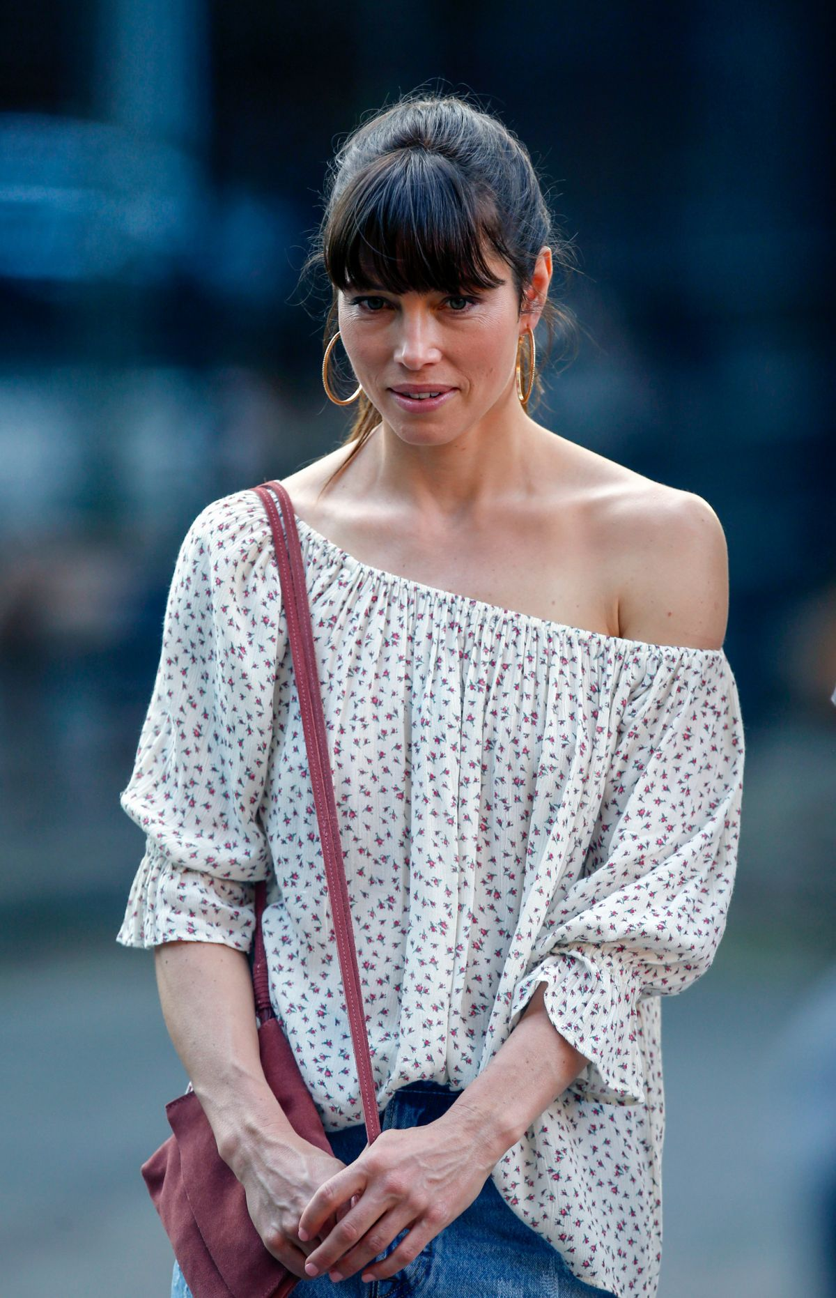 JESSICA BIEL on the Set of The Sinner in New York 06/13 ...