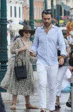 JESSICA CHASTAIN and Gian Luca Passi de Preposulo Out in Venice 06/07/2017