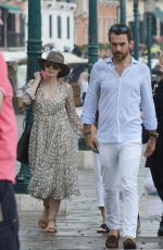 JESSICA CHASTAIN and Gian Luca Passi de Preposulo Out in Venice 06/07/2017