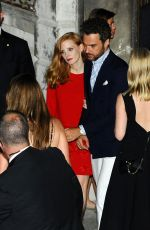 JESSICA CHASTAIN Arrives at Her Pre-wedding Party in Venice 06/09/2017