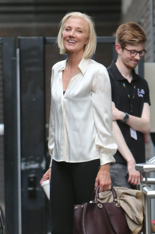 JOELY RICHARDSON Leaves ITV Studios in London 06/20/2017