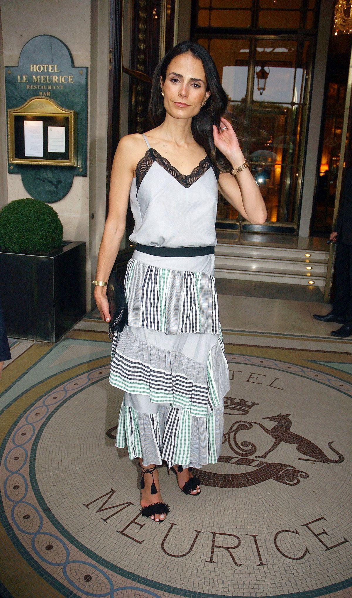 JORDANA BREWSTER Leaves Meurice Hotel in Paris 06/03/2017