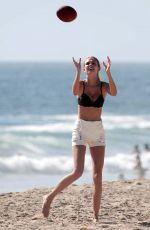 JOSEPHINE SKRIVER in Bikini Top on the Beach in Malibu 06/18/2017
