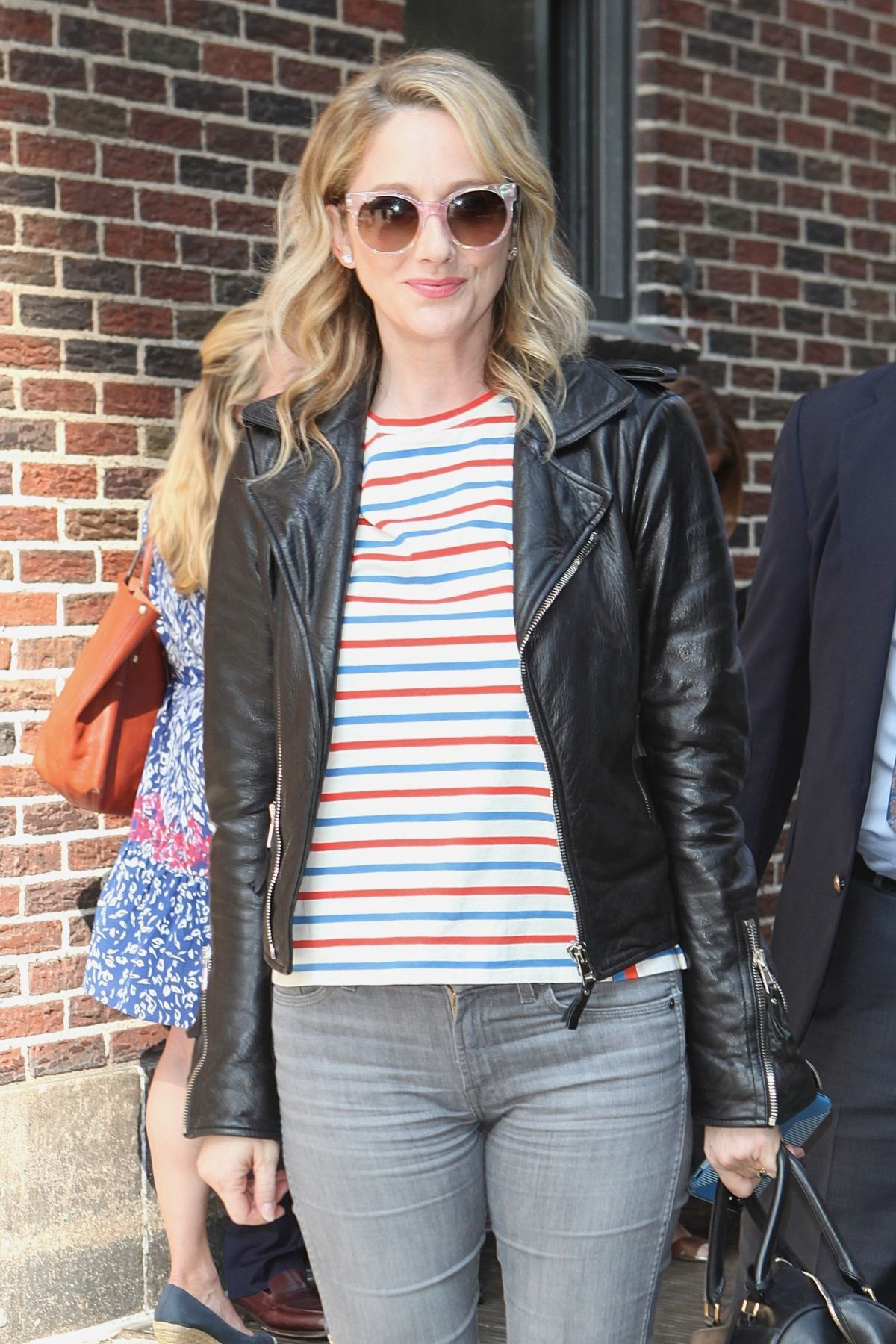 JUDY GREER Arrives at Late Show with Stephen Colbert in New York 06/15/2017