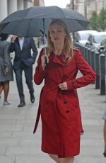 JULIA STILES Arrives at BBC Radio 1 in London 06/12/2017